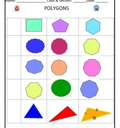 Polygons exercise for Grade 5 [ 1291 x 1000 Pixel ]