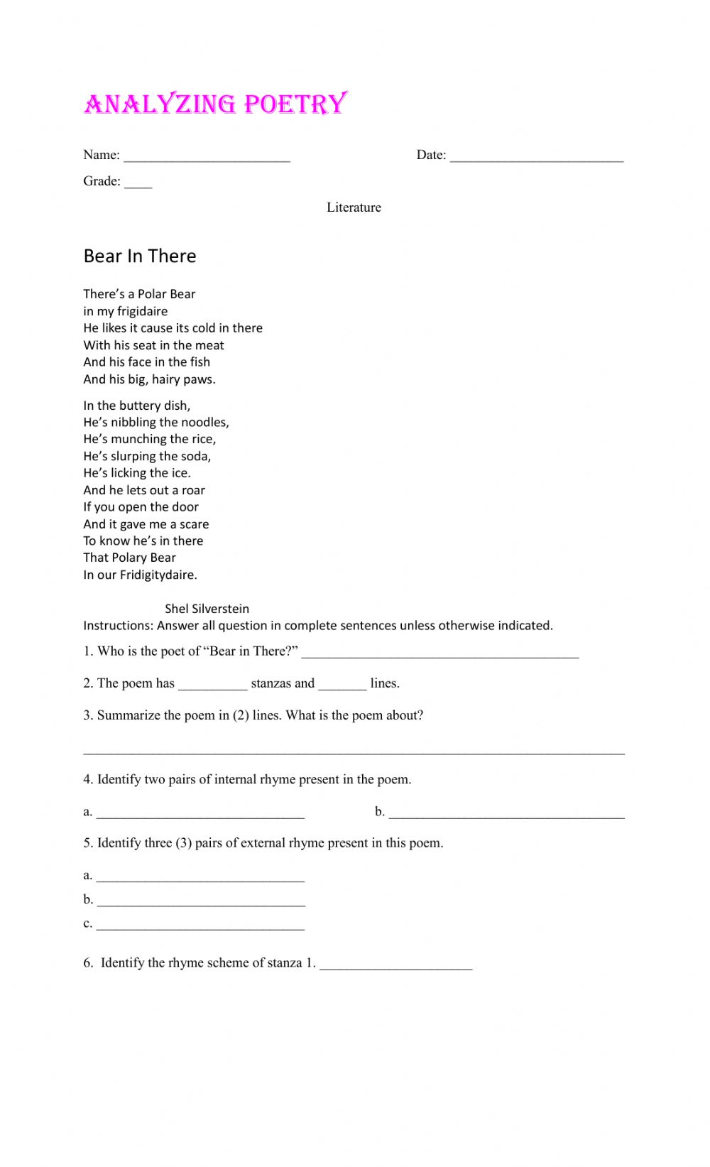 hight resolution of Elements of a Story online worksheet for 7