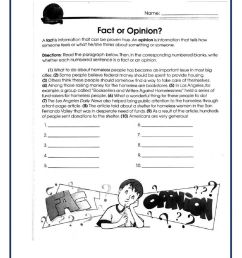 Fact and Opinion (Reading Comprehension Gr. 5) worksheet [ 1291 x 1000 Pixel ]