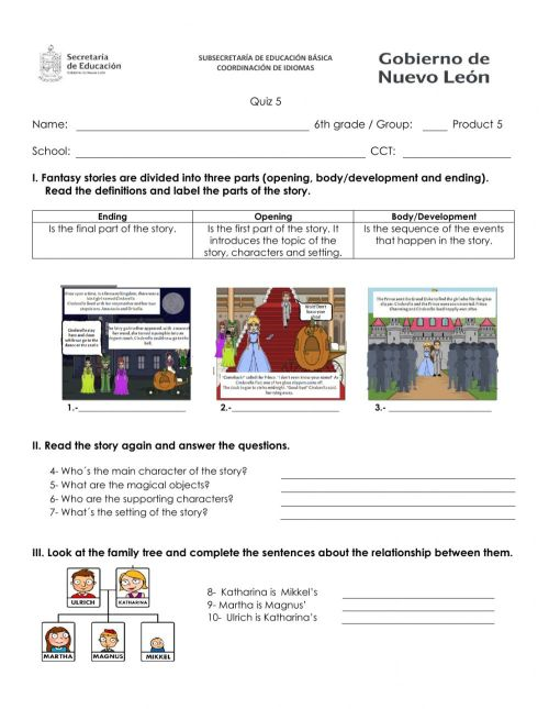 small resolution of Quiz 5 6th worksheet