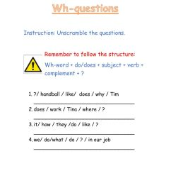Wh- questions interactive worksheet for all grades [ 1291 x 1000 Pixel ]