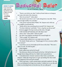 Basketball Ballet worksheet [ 1291 x 1000 Pixel ]