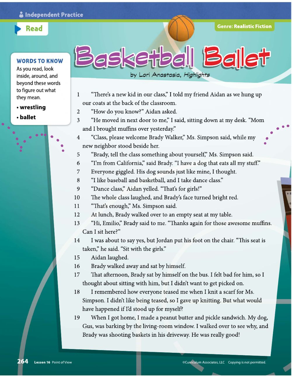 hight resolution of Basketball Ballet worksheet