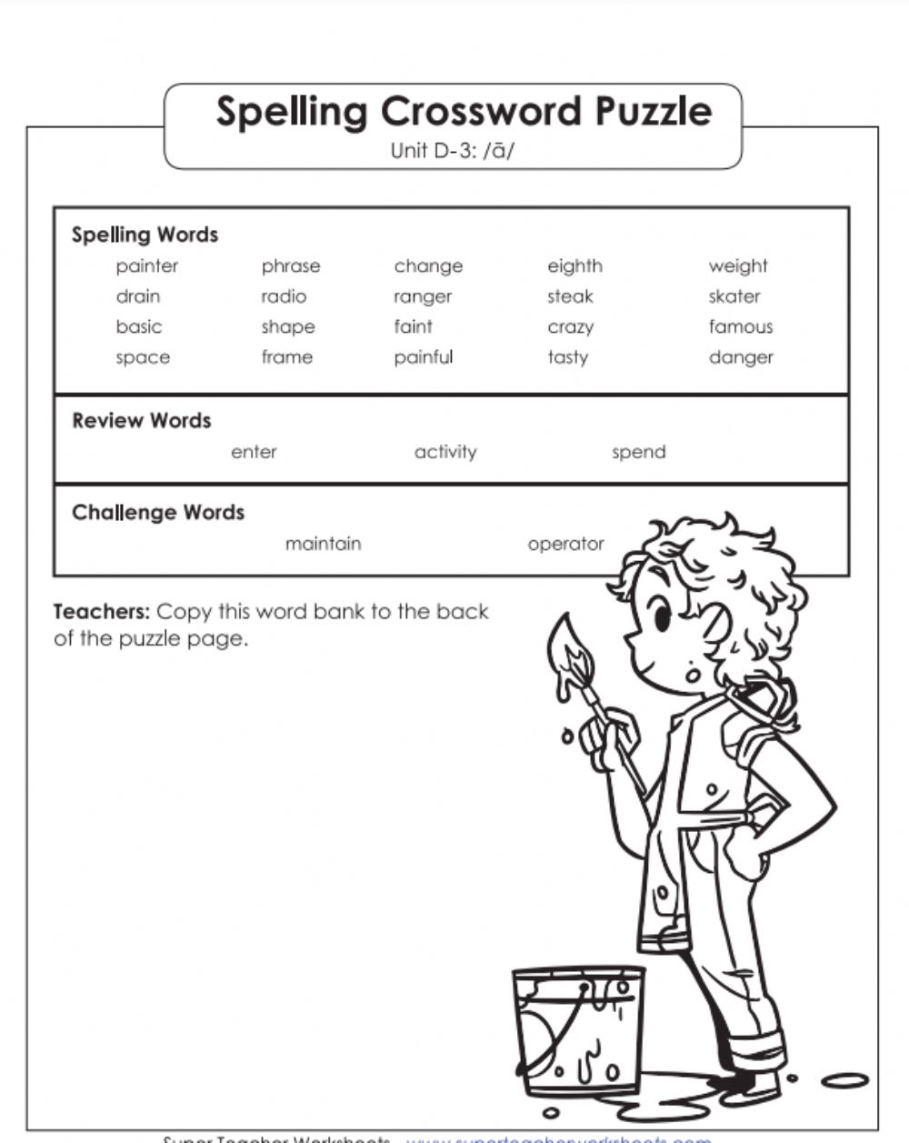 hight resolution of Crossword puzzle 2 D-3 5th grade worksheet