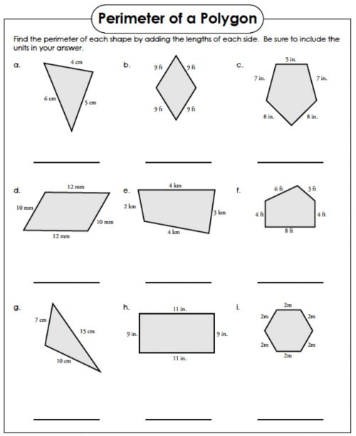 small resolution of Perimeter of a Polygon worksheet