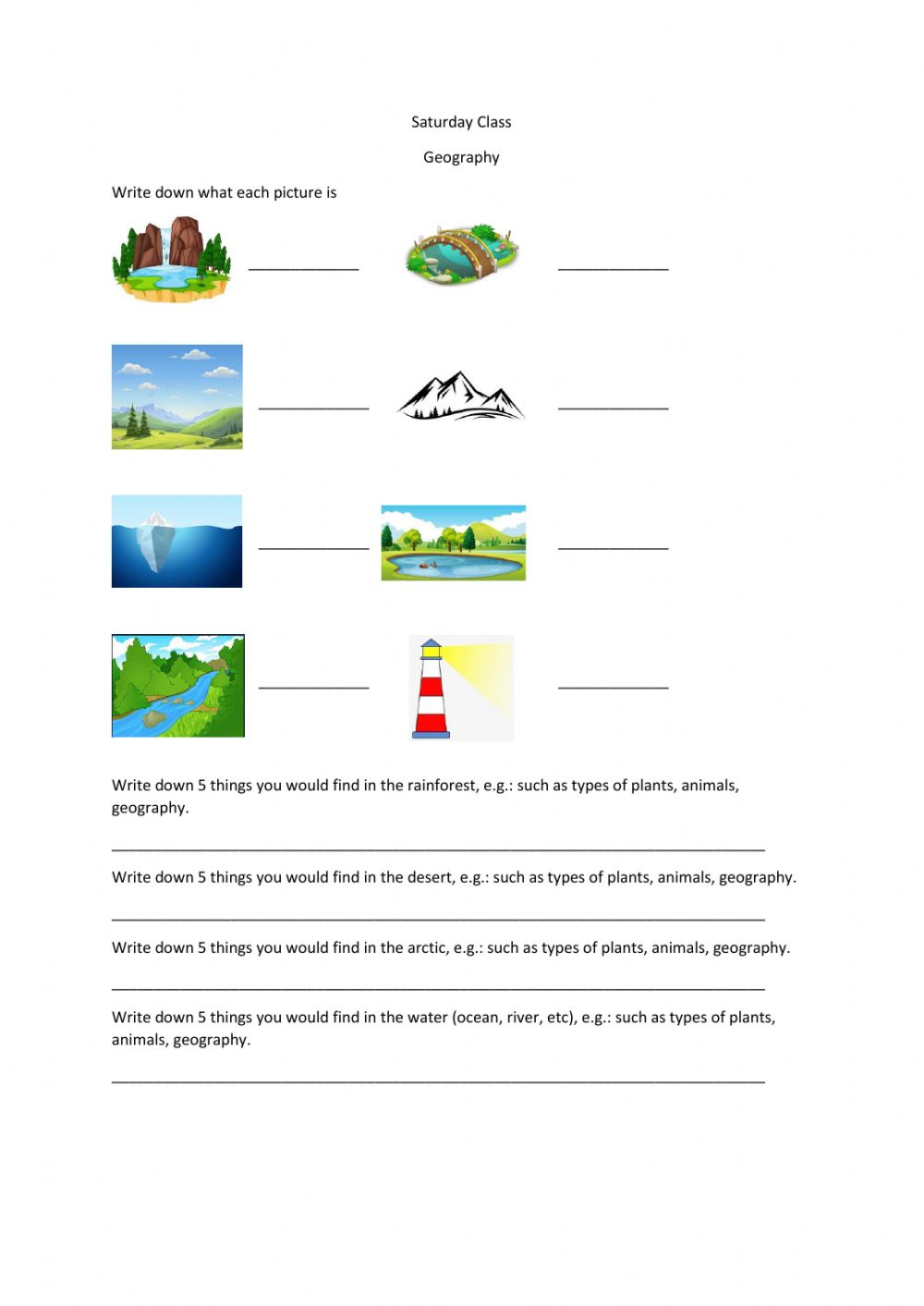 hight resolution of P4 Geography worksheet