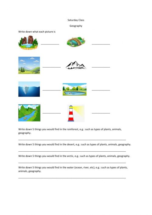 small resolution of P4 Geography worksheet