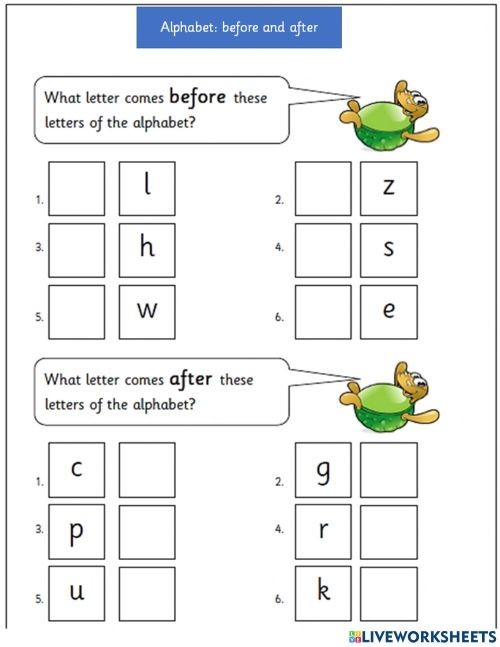small resolution of Abc before and after 3 worksheet