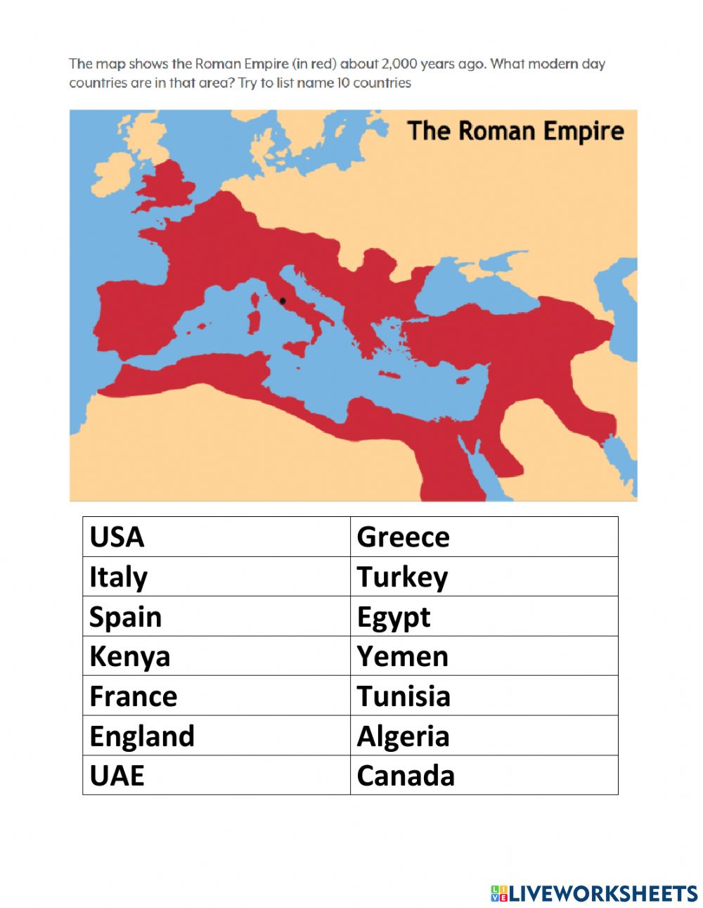 hight resolution of The Roman Empire