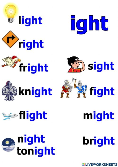 small resolution of ight words worksheet