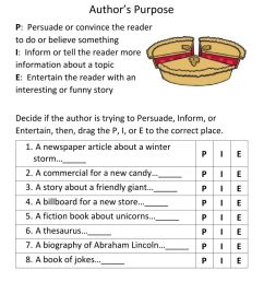 Author's Purpose worksheet for 7 [ 1291 x 1000 Pixel ]