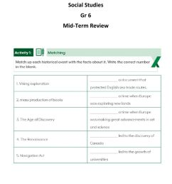 Mid-Term Review Gr 6 worksheet [ 1291 x 1000 Pixel ]