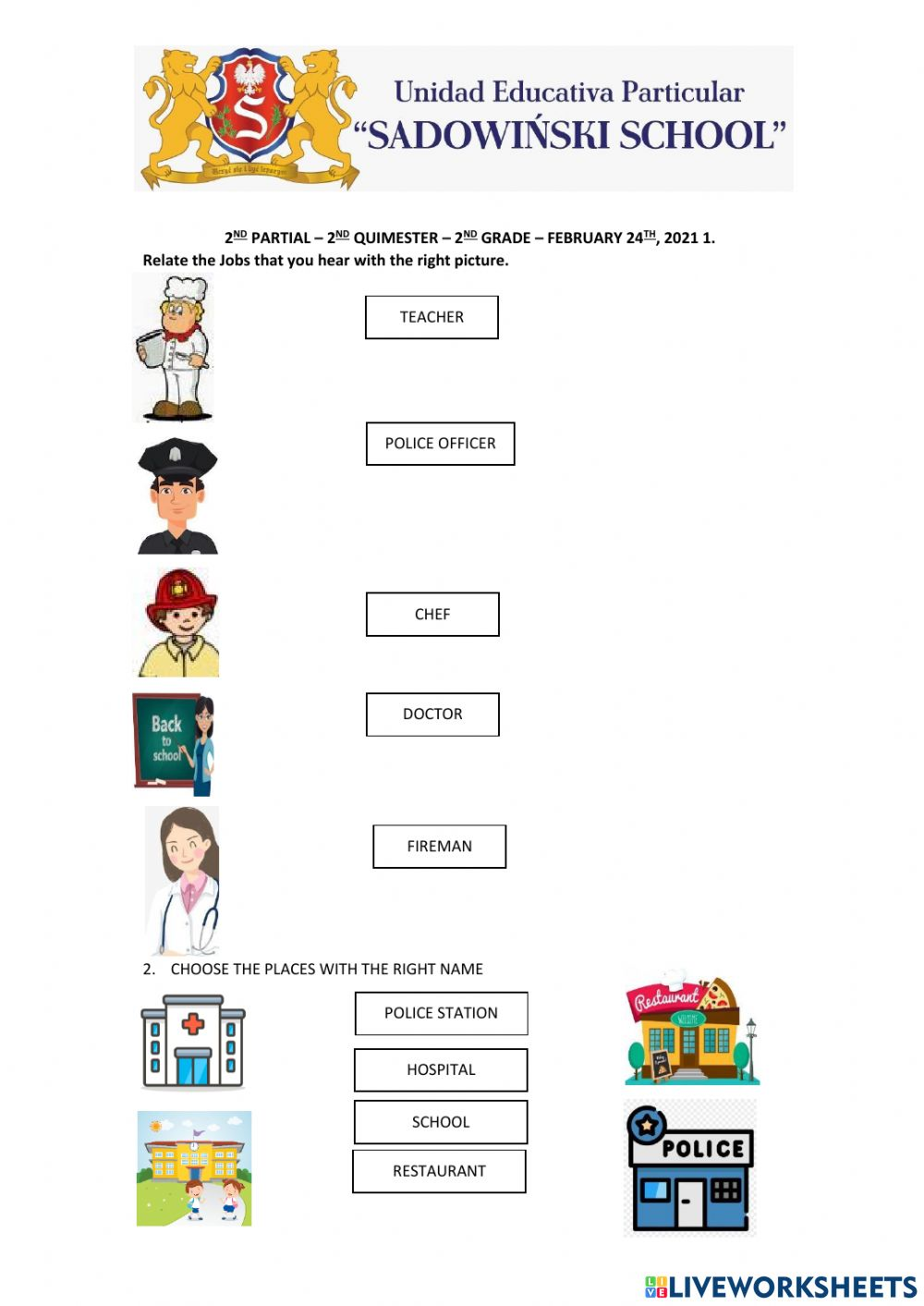 hight resolution of 2nd partial test worksheet
