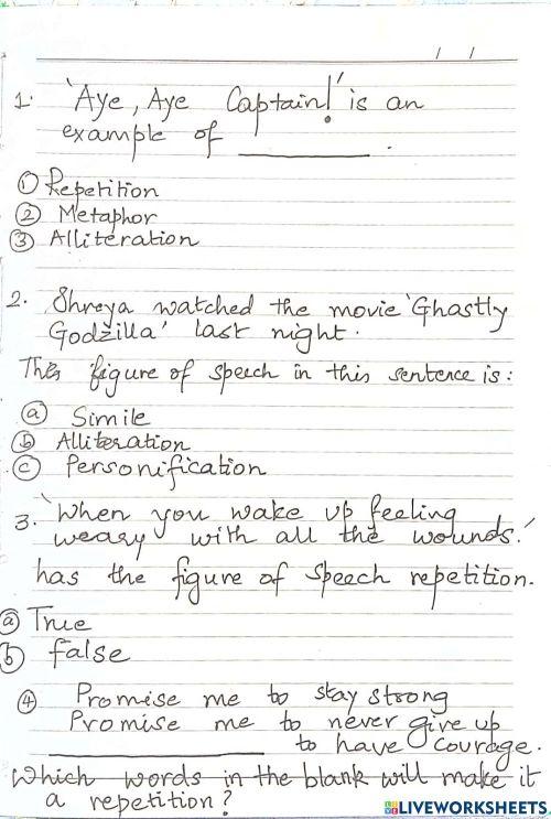 small resolution of Repetition and alliteration worksheet