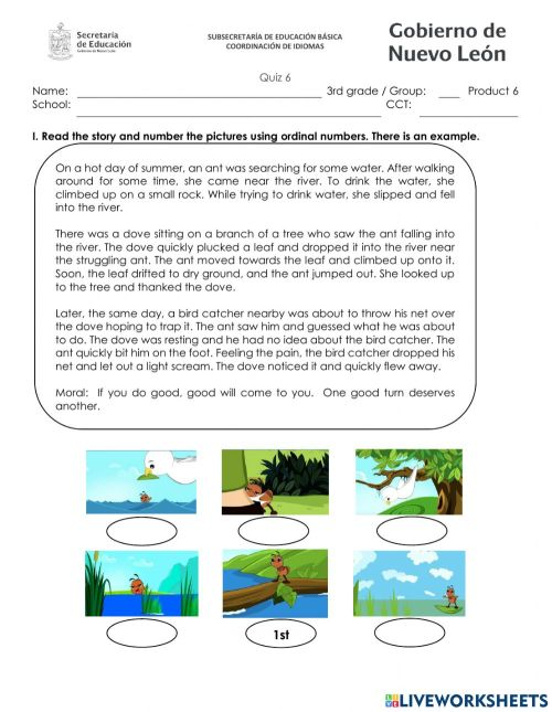 small resolution of Quizz third grade february worksheet