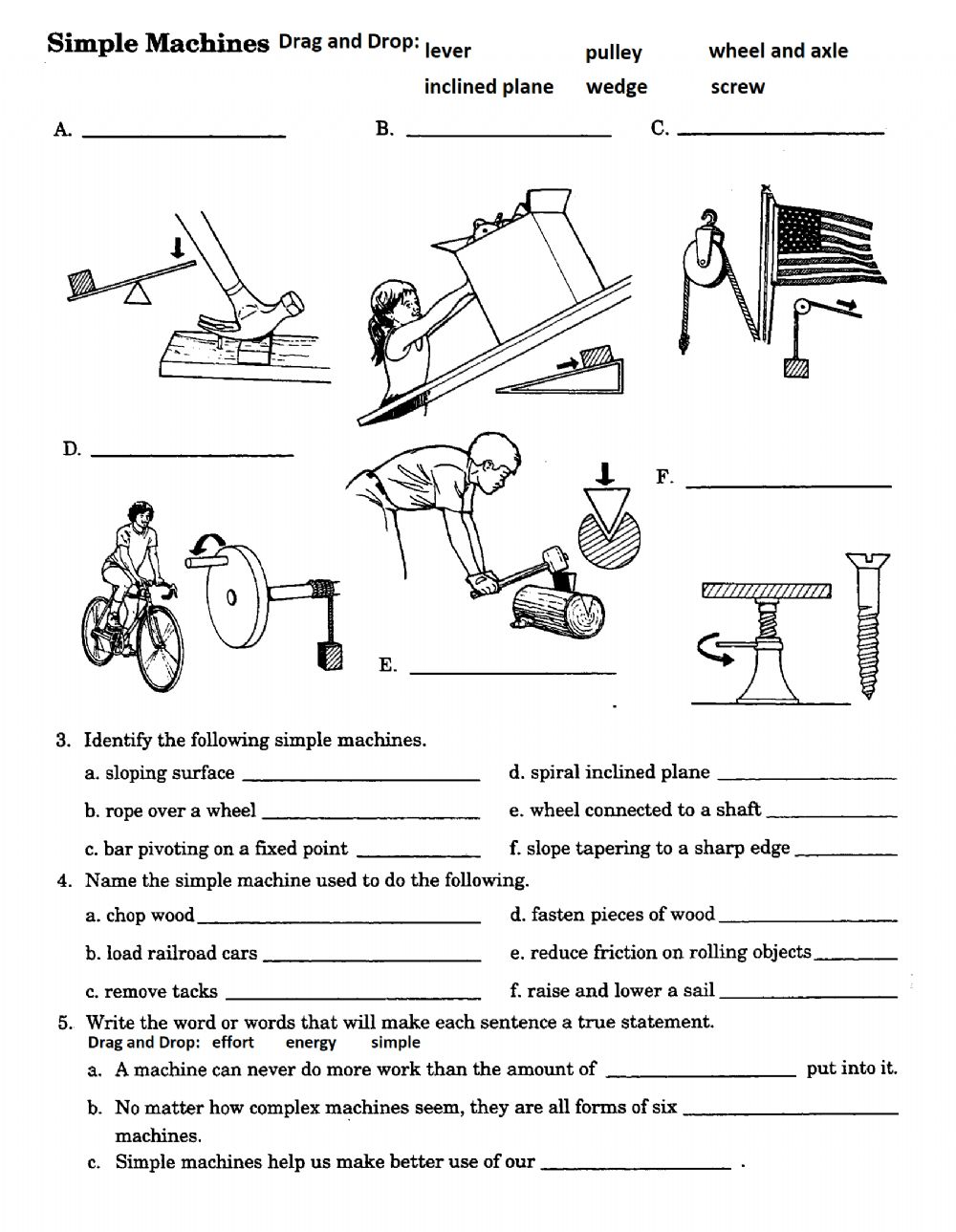 hight resolution of PS-12-Identifying Simple Machines worksheet