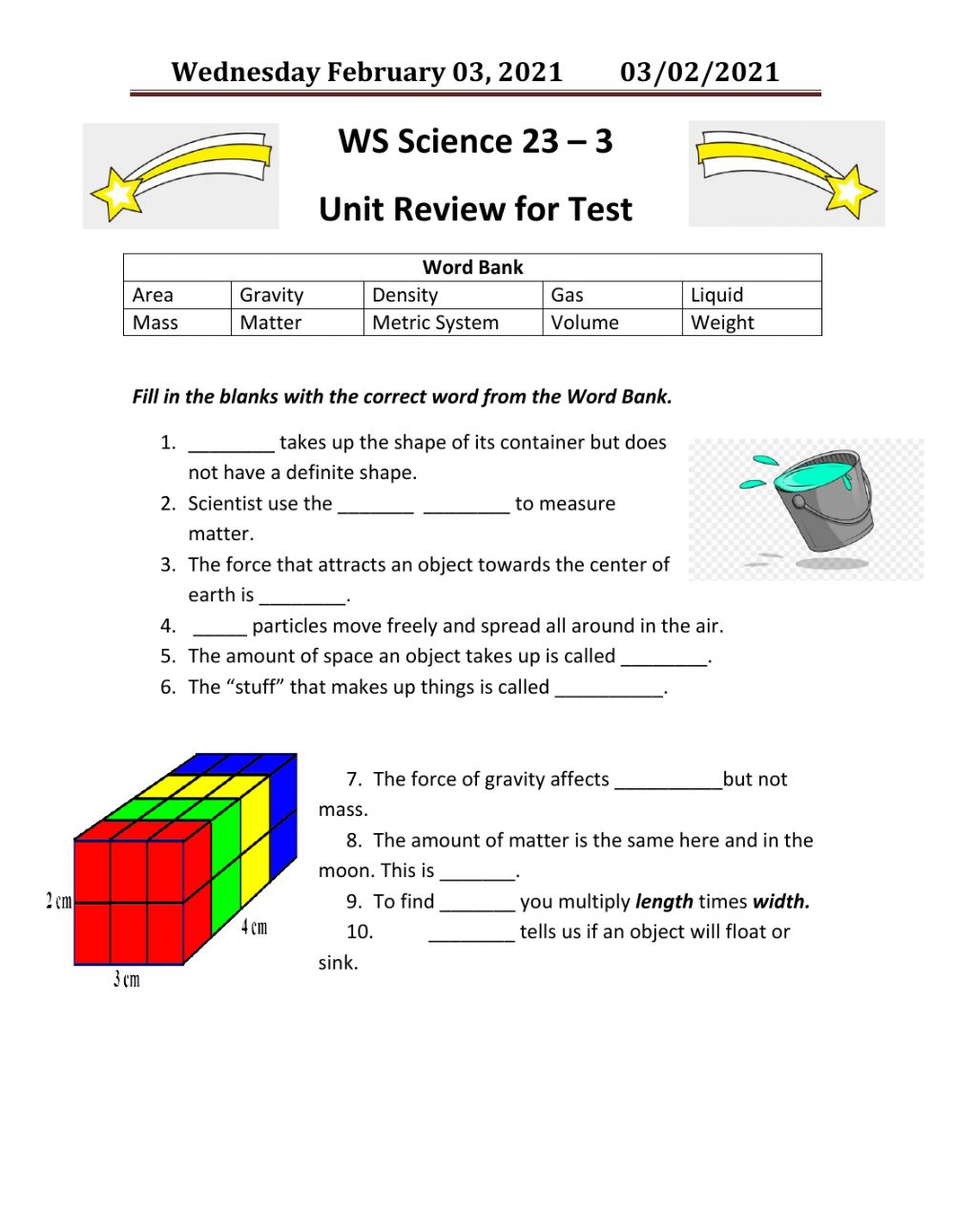 hight resolution of Science online exercise for 3rd Grade