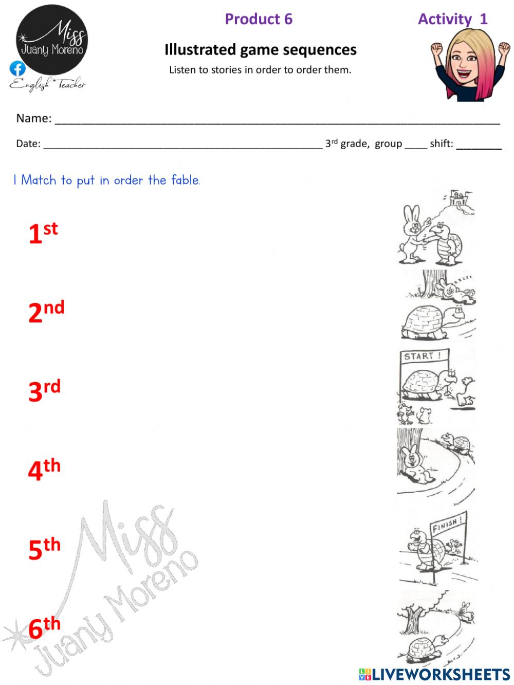hight resolution of Order the fable worksheet