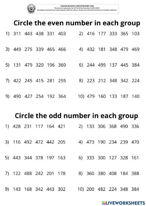 small resolution of Worksheet online exercise for 2