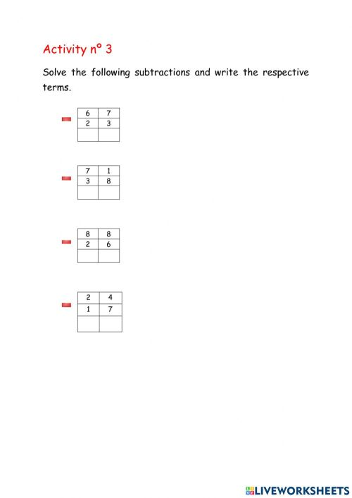 small resolution of Subtraction properties worksheet