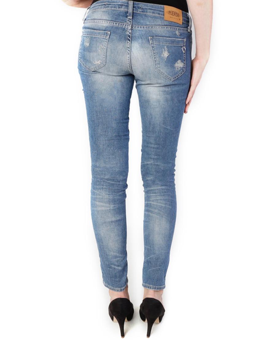 Please  Jeans  P95 Light Blue