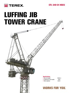 Terex CTL 340-24 HD23 Specifications Crane.Market