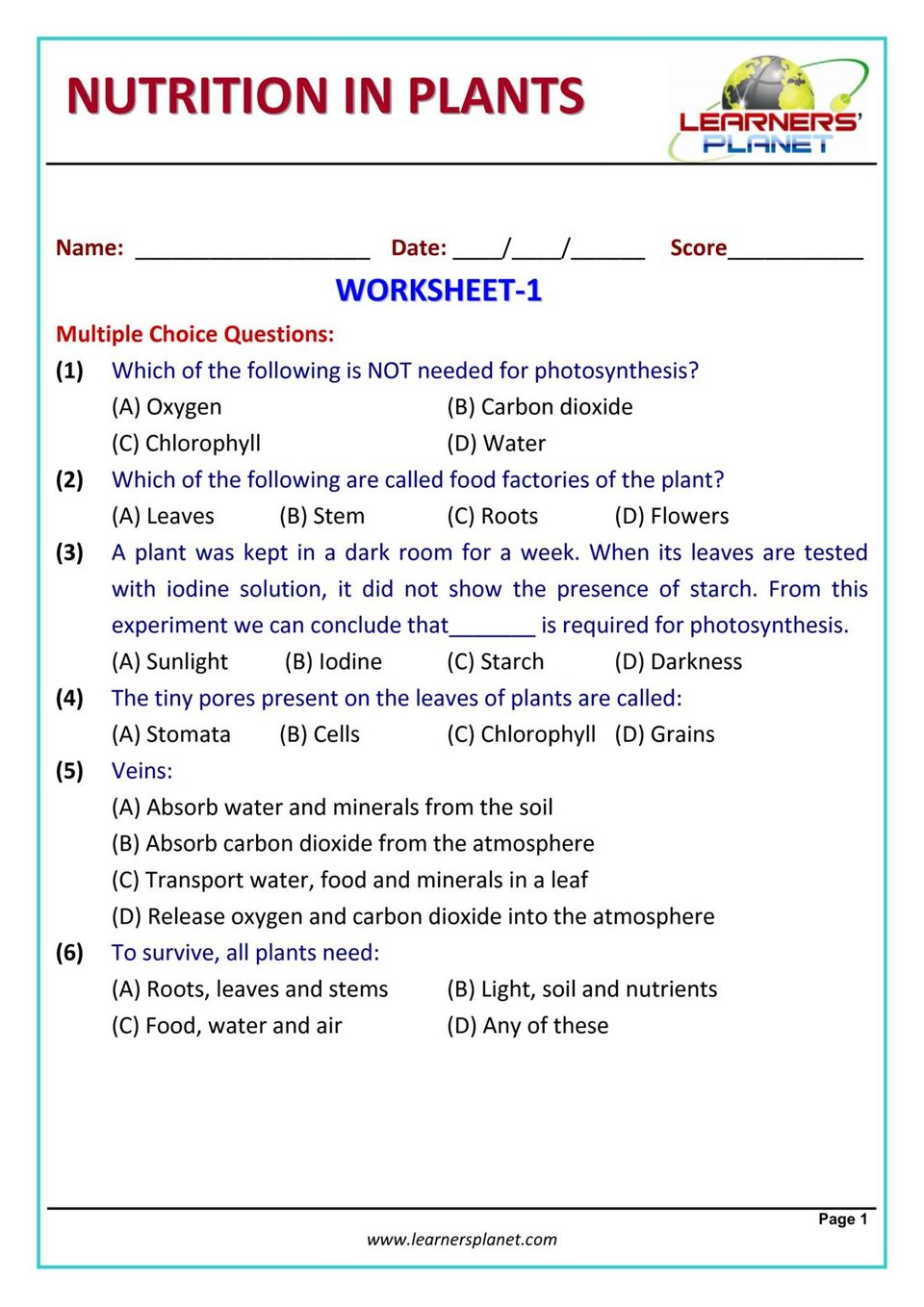 hight resolution of Grade-7-Science-Olympiad - Nutrition in Plants Magazine