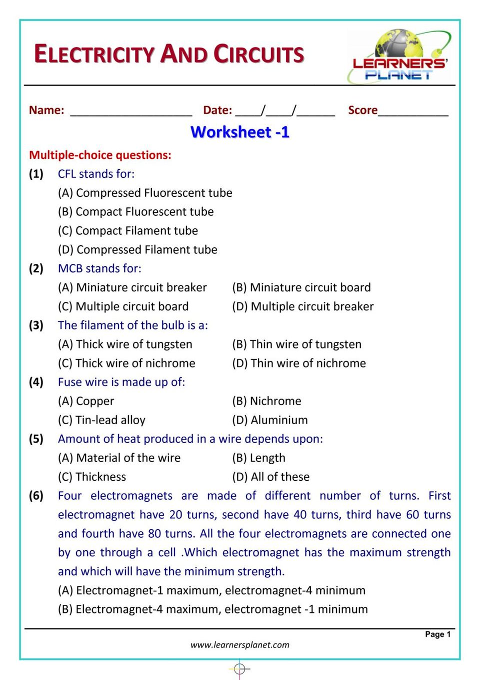 medium resolution of Get your digital copy of Grade-6-Science-Olympiad - Electricity \u0026 Circuits  issue