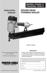 Porter Cable Fr350a Parts : porter, cable, fr350a, parts, Porter-Cable, FR350A, Manual, Manualsbrain.com