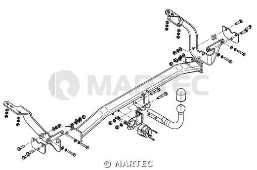 Hak holowniczy Citroen C4 Picasso 2006-2013 Steinhof C-041