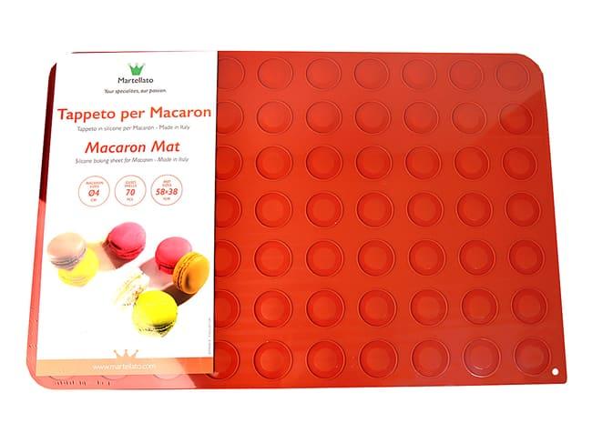 plaque a macarons en silicone 58 x 38 cm martellato