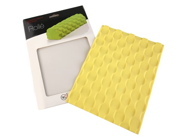 tapis silicone texture bulles pour moule a buche silicone pavoni