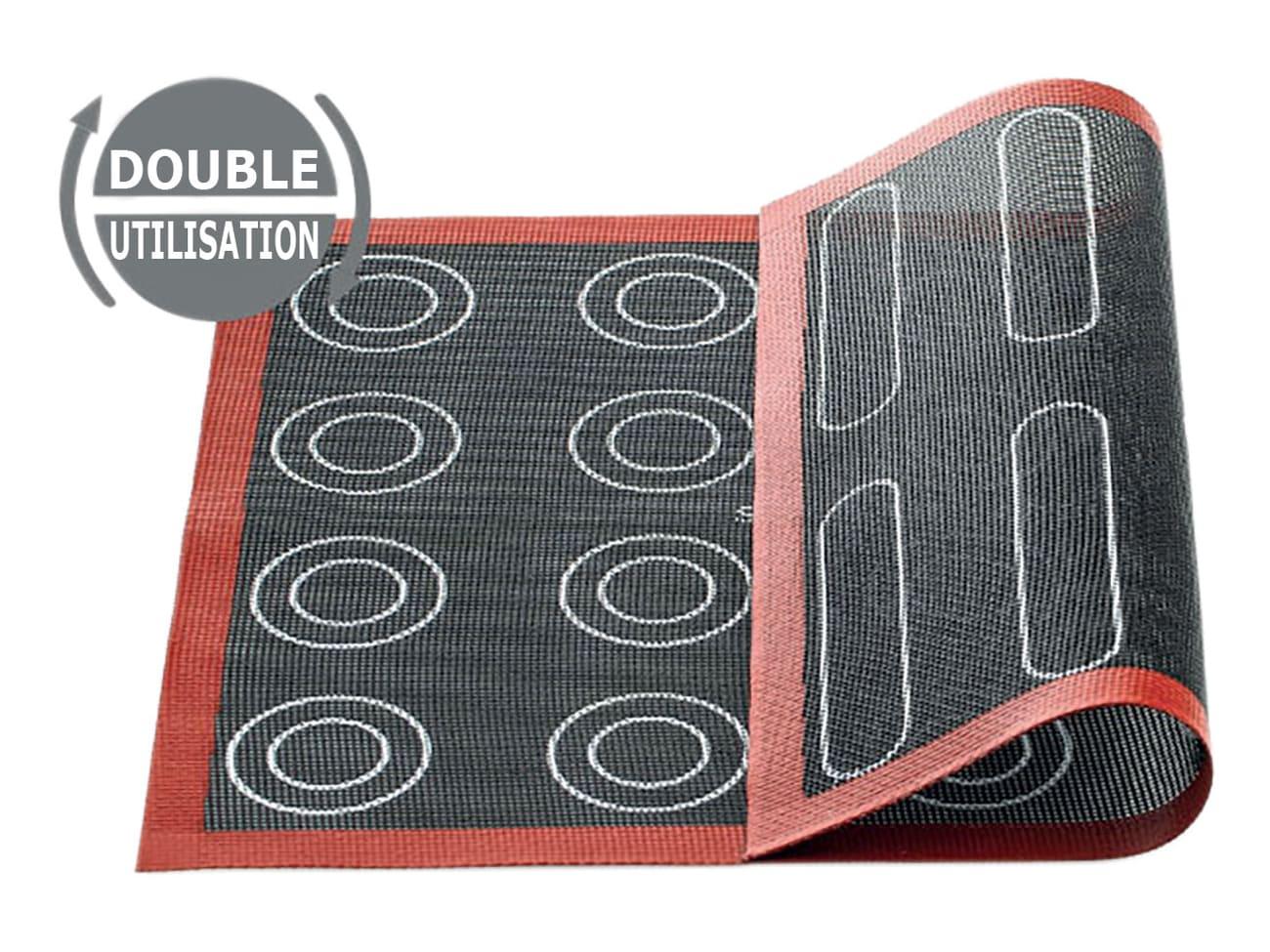 tapis de cuisson special choux eclairs et pains 40 x 30 cm silikomart
