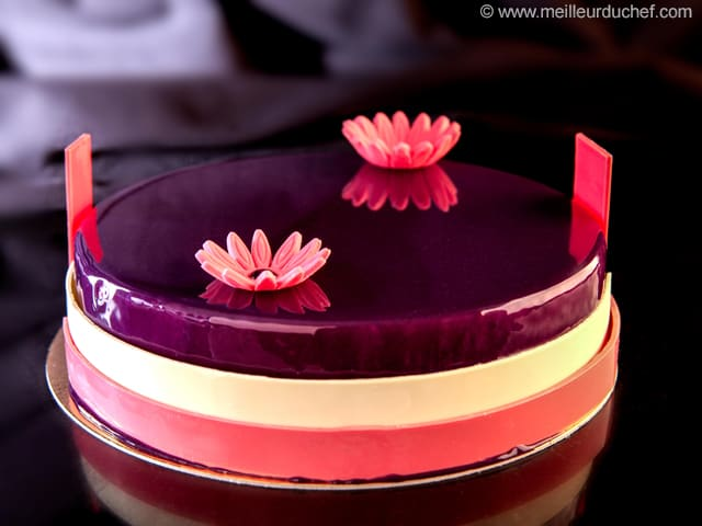 Blueberry Mousse Entremets  Illustrated recipe