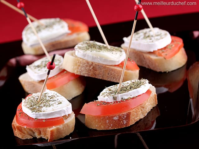 mandolin kitchen slicer horizontal cabinets fresh goat cheese and tomate tapas - our recipe with ...