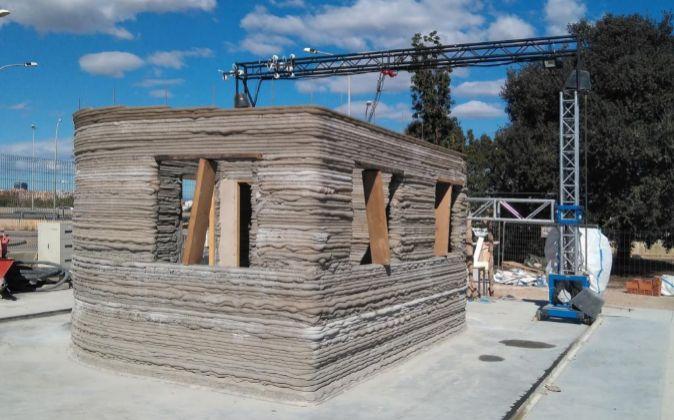 Crean en Valencia la primera casa hecha con una impresora 3D