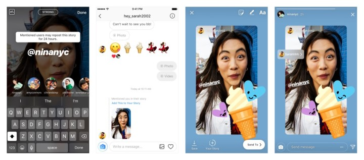 Instagram-mention Story-Sharing
