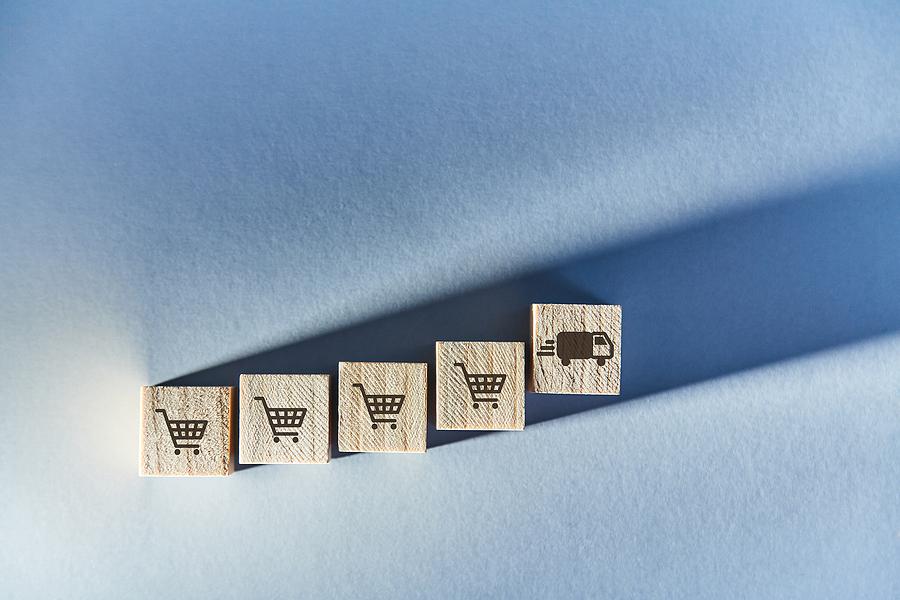 bigstock Steps Of E shopping Online Sh 363218980