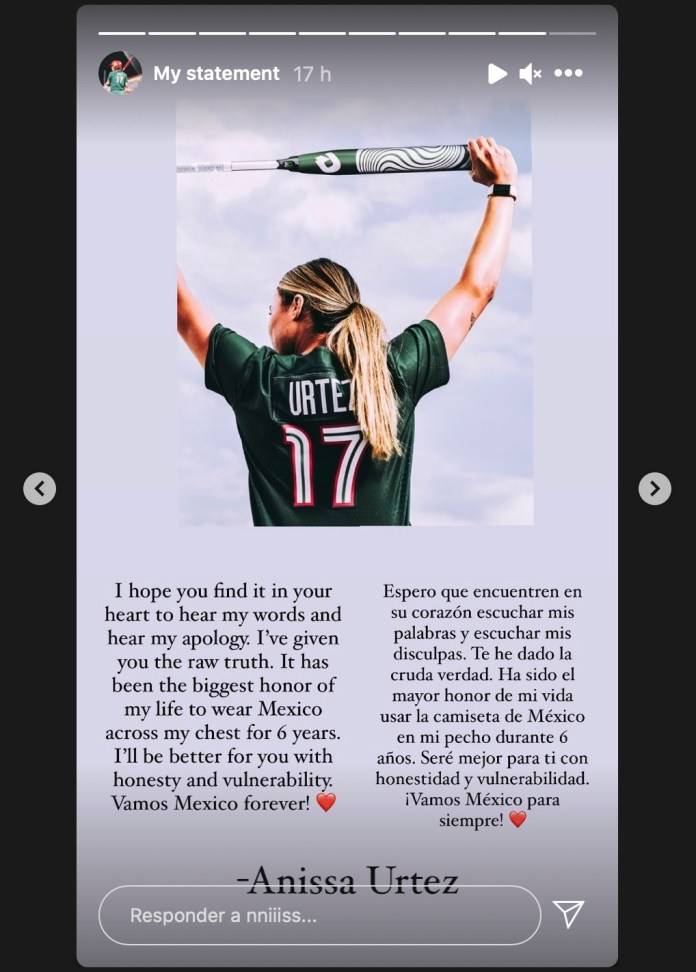 After scandal, softball player announces her resignation on Instagram