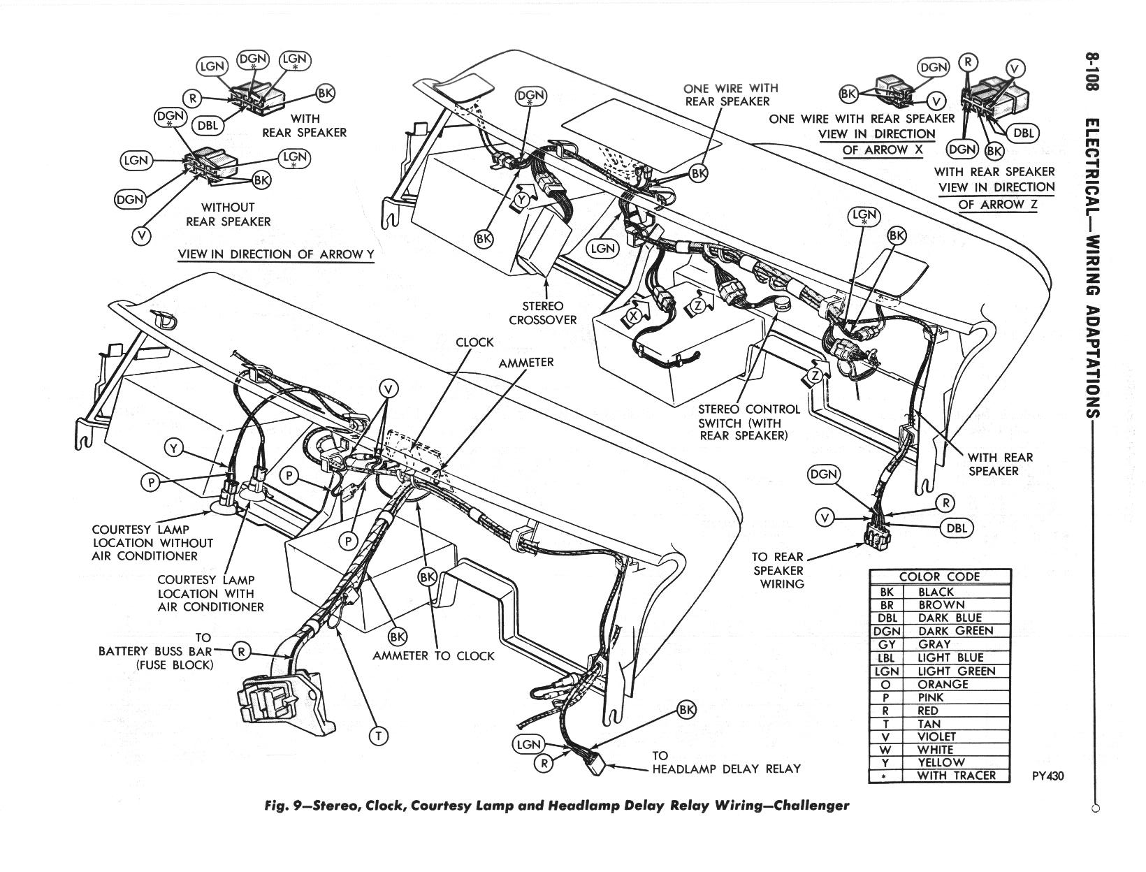 1970 Challenger Wiring Diagrams • The Dodge Challenger