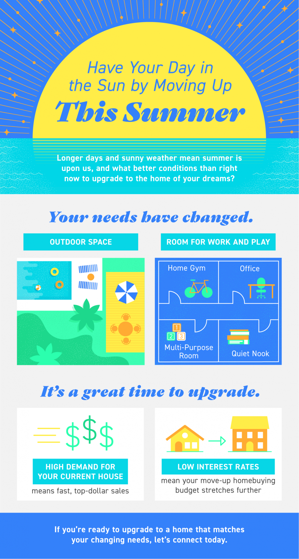 Have Your Day in the Sun by Moving Up This Summer [INFOGRAPHIC] | MyKCM