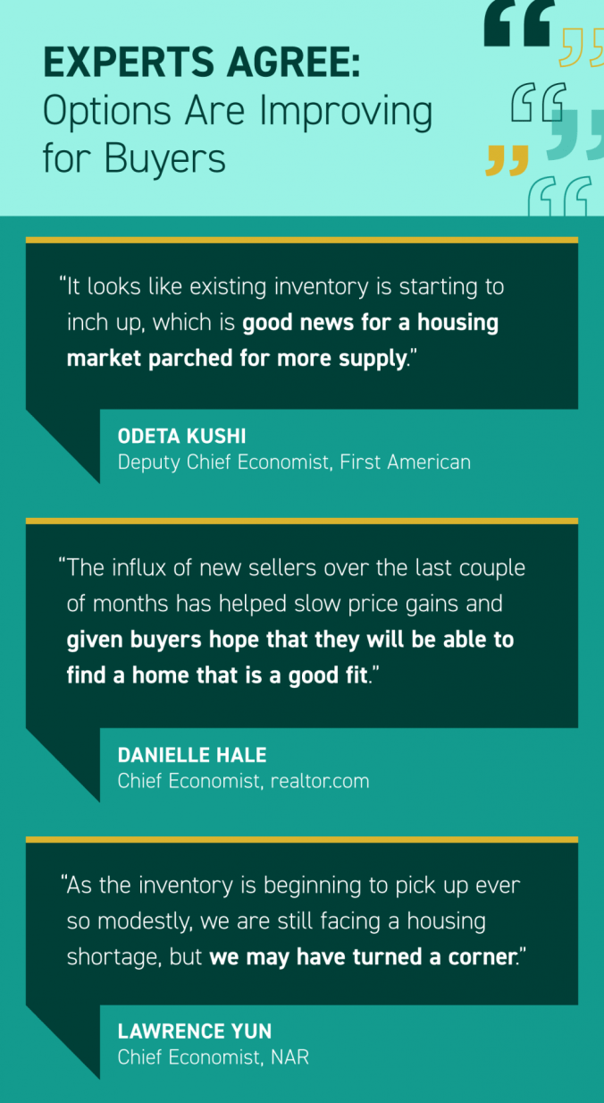 Experts Agree: Options Are Improving for Buyers [INFOGRAPHIC] | MyKCM
