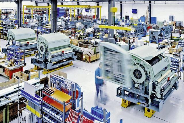 L'usine du fabricant de machines-outils Rieter India dans la ville de Pune.
