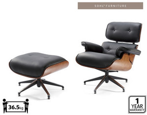 fake eames chair ghost chairs cheap replica with ottoman for 350 at aldi ozbargain