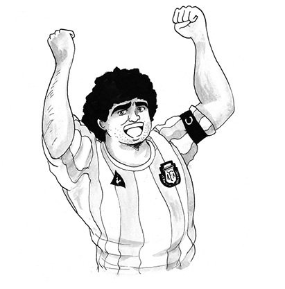 5 futbolistas famosos ilustrados al estilo de los