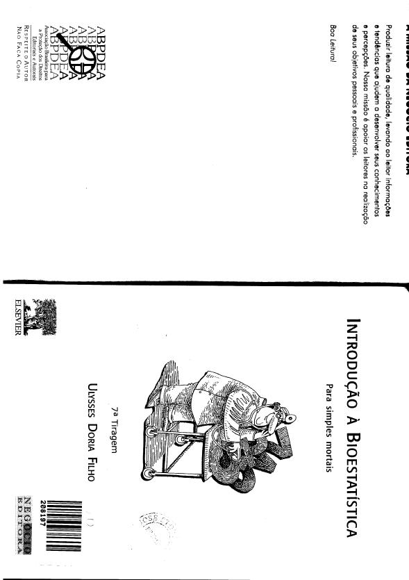 INTRODUO A BIOESTATISTICA ULYSSES DORIA FILHO PDF