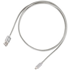 SilverStone CPU01 Silver High Speed Charge and Sync Cable
