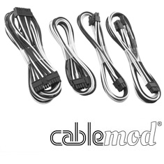 CableMod C-Series RMi / RMx Basic Cable Kit Black/White