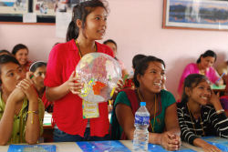 Camp GLOW participants in Nepal