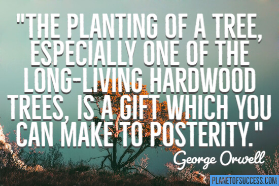 The planting of a tree quote